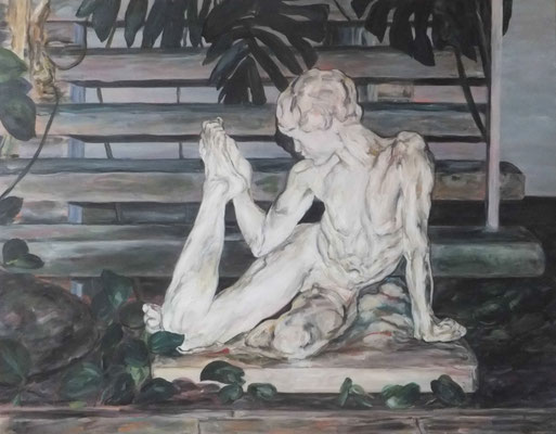 Prinzessin im Schloss. Triptychon. 2015. 60 x 80cm