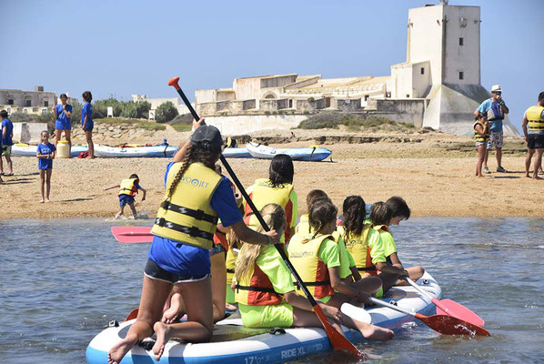 Paddle surf para grupos grandes Cadiz