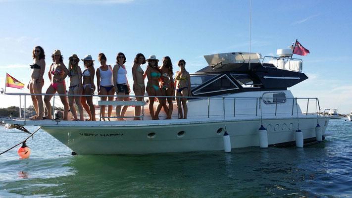alquilar barco en Cádiz para grupos
