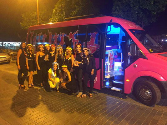 Fiesta de despedida en Cadiz en discoteca autobus