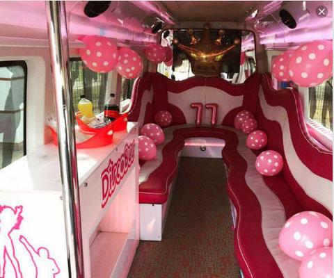 Autobús discoteca para comuniones Cadiz