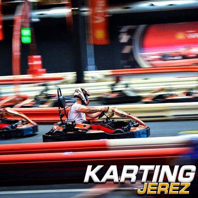 Carrera de kart en Jerez de la Frontera