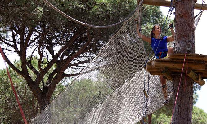 escalada en los árboles Cádiz