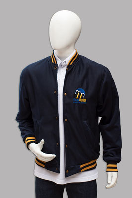 chaqueta beisbolera publicitaria