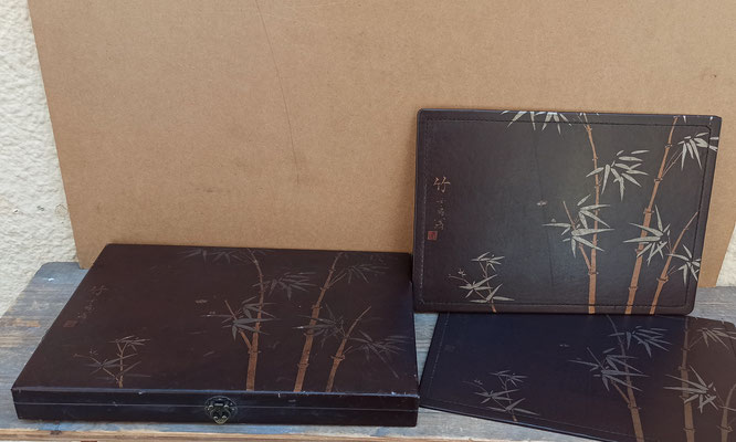 6 manteles individuales con caja