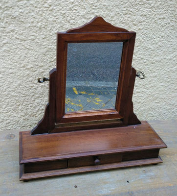 Espejo madera 1 cajón. 38 alto. Base 38x12 fondo
