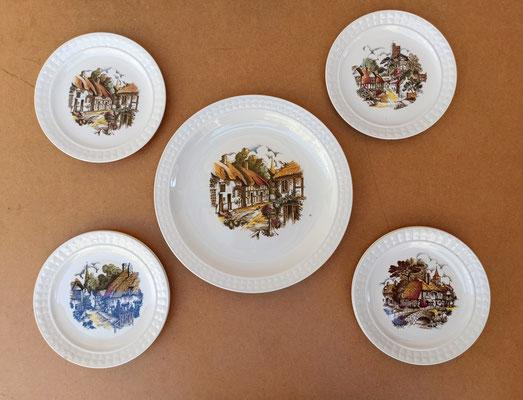 Conjunto 1 plato grande y 6 pequeños Pontesa