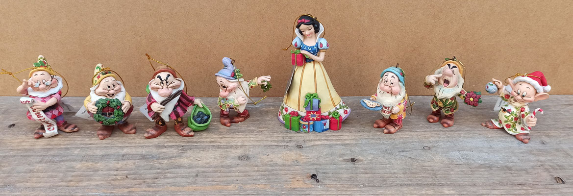 Decoración árbol de navidad Blancanieves y los 7 enanitos