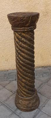 Columna madera con chapa metal. 76x21 diámetro.