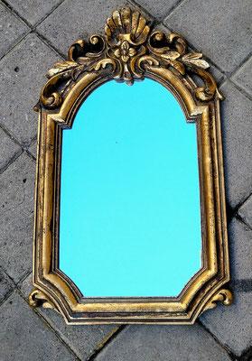 Espejo madera dorado. 50x30
