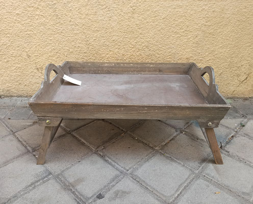Bandeja de cama en madera
