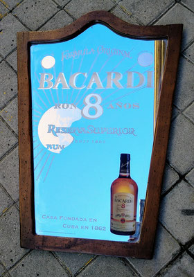 Espejo madera Bacardi