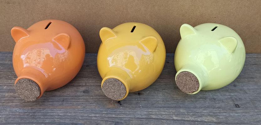Huchas cerdito cerámica