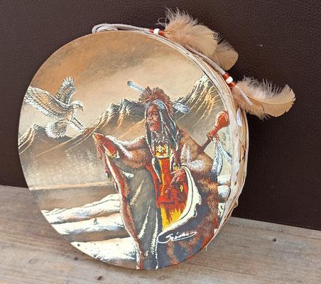 Tambor indio en piel