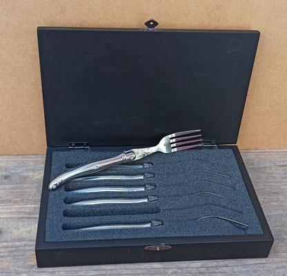 Juego de 6 tenedores con caja