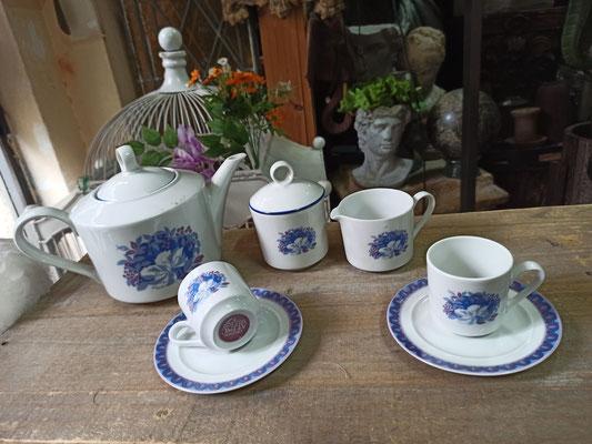 Juego café 6 servicios porcelana francesa Creation Alpac. Ref 03