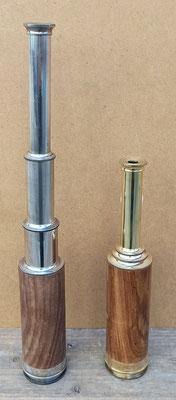 Catalejo de madera. Ref KA036. 32 centímetros alto abierto