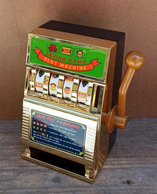 Hucha máquina tragaperras con sonido