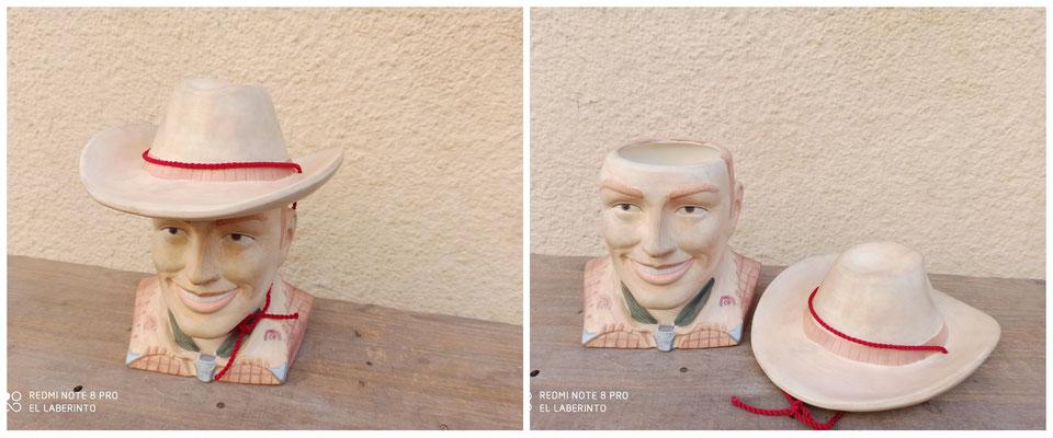 Galletero cowboy cerámica