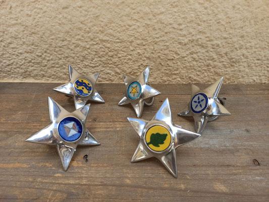 Servilleteros metal estrella