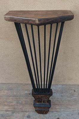 Ménsula de madera y metal. Ref Ma 11918. 38x18x13 fondo