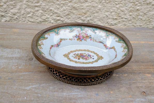 Bandeja mini porcelana con peana