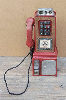 Hucha teléfono chapa