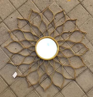 Espejo sol. Ref 56380. 73 centímetros diámetro total. 19 centímetros diámetro espejo.