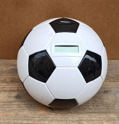 Hucha balón de fútbol cuentamonedas electrónico