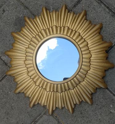 Espejo resina. Ref 32638. 30 centímetros diámetro total. 10 centímetros diámetro espejo.
