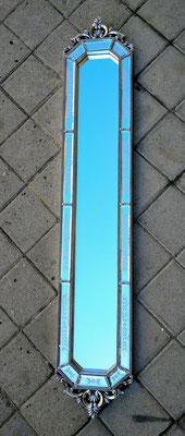 Espejo color plata. 115x20.
