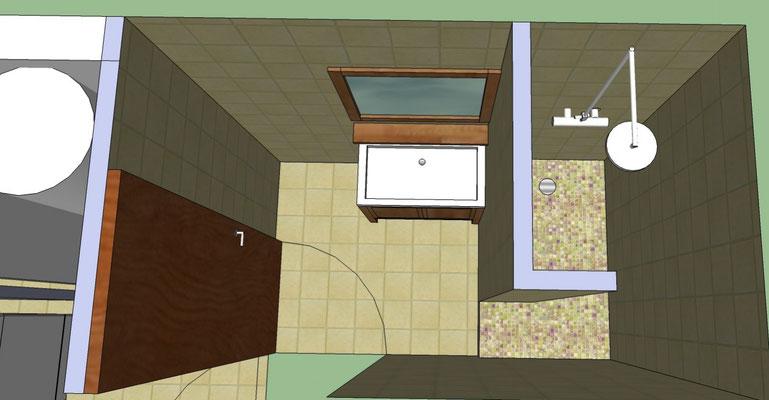 Albertus rénovation plan d'aménagement d'une salle de bain à embrun chalvet 05200
