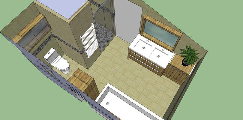 Conception d'une salle de bain par Albertus Rénovation