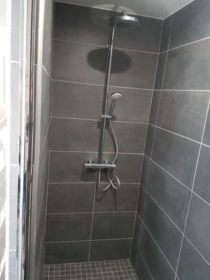 Albertus rénovation salle de bain faïence  douche à l'italienne colonne de douche