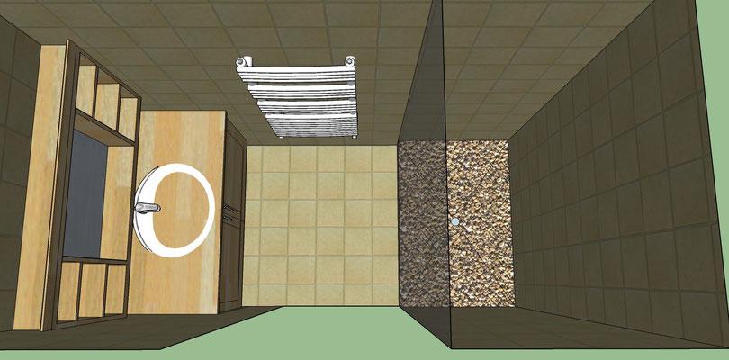 Conception et aménagement de la salle de bain Albertus rénovation