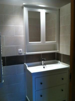 Installation du meuble miroire à embrun chalvet 05200