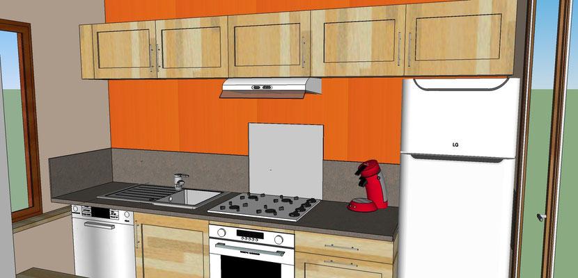 Pose de kitchenettes, Aménagement de cuisines, Agencement de cuisines,