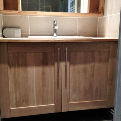 Création d'un meuble vasque Albertus rénovation