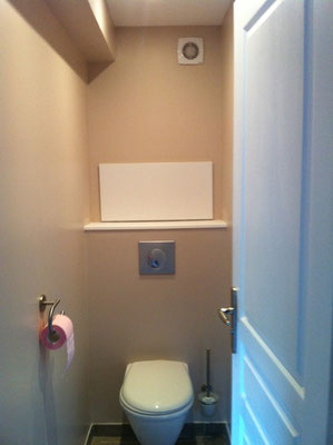 Albertus rénovation installation d'un wc supendu