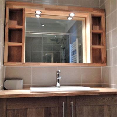 Création d'un meuble haut de salle de bain Albertus rénovation