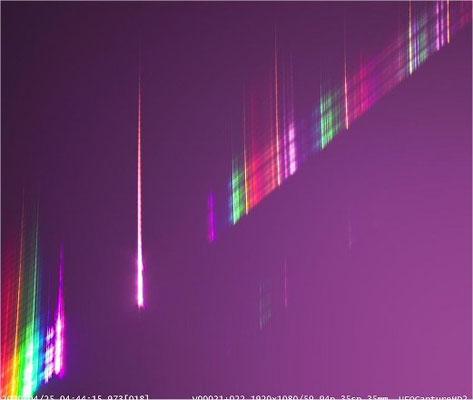 4月24日の火球のスペクトル