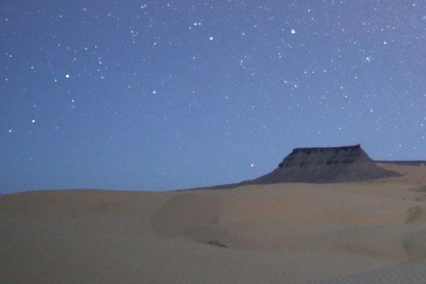 サハラ砂漠でのいっかくじゅう座α群流星群