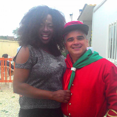 Italiano e Rosana Copacabana a Ciao Darwin7 puntata n 6  22/04/2016 Italiani contro Stranieri canale 5 Mediaset