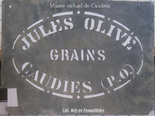 Pochoir en Zinc pour marquer les sacs de grains