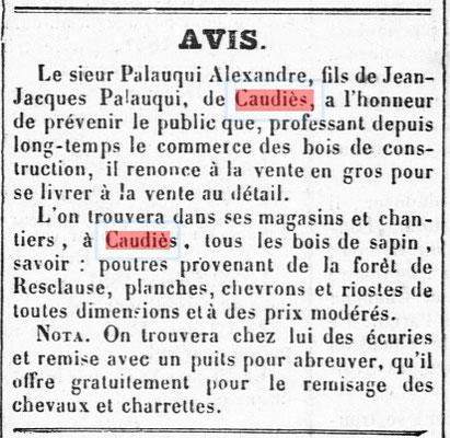 Bois Palauqui 1855