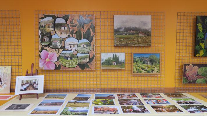 """Peintures Mireille Boix-Peille et Photos """"Repas sous les Arbres de la Cour"""""""