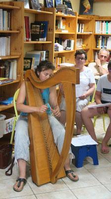 Amanda Liotard et sa Harpe Celtique