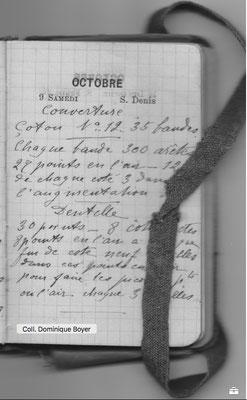 Petit carnet de Marthe Boyer vers 1895