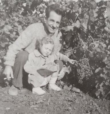 Maurice Malet et sa fille Maguy