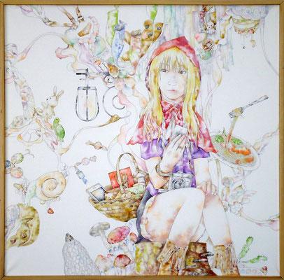 赤ずきん  2011 1167×1167(mm) 水彩